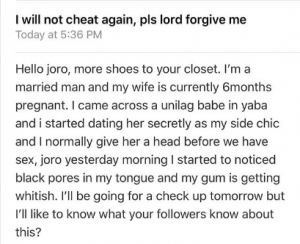 """joro 300x244 - """" I Will Not Cheat Again, Please Forgive Me Lord"""" – Man Cries Out"""