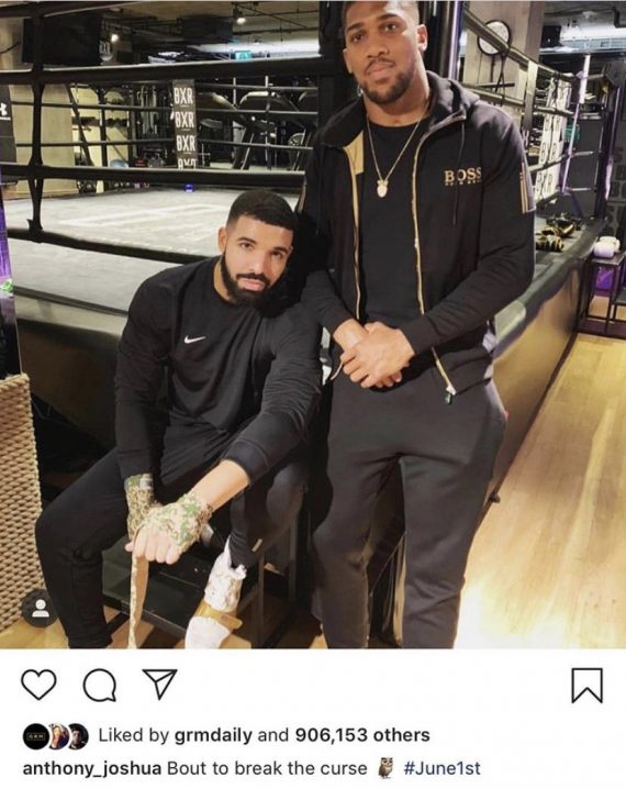 Ebuka Obi Uchendu And Others Blame Drake Over Anthony Joshua's Loss To Andy Ruiz