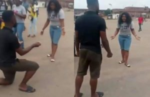 "man 300x195 - "" This Is Why She Said NO"" – Nigerians React To Video Of Man Beating Up Lady Over Marriage Proposal"