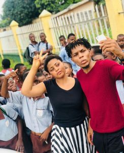 regina daniels brother escapes death as he survives car accident 244x300 - Video; Regina Daniels Brother Arrested By Police