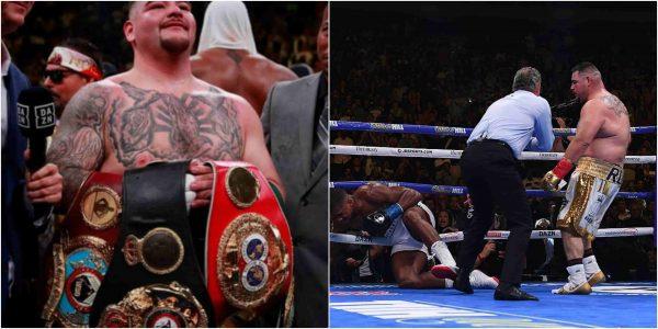 v - Andy Ruiz Jr defeats Anthony Joshua