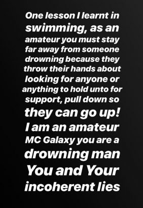 xxxx - 'Stop lying to Nigerians about the video' – Etinosa fires back at MC Galaxy