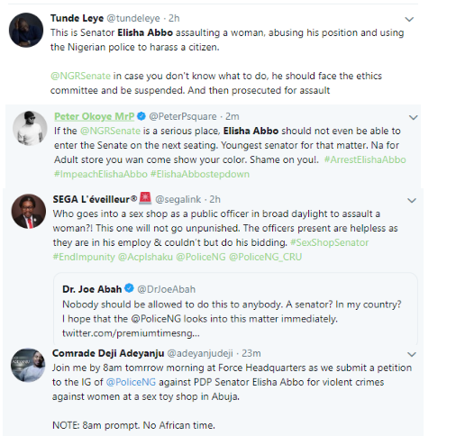 2 3 - M.I, Don Jazzy, others react to Senator Abbo assaulting a nursing mother in a sex toy shop