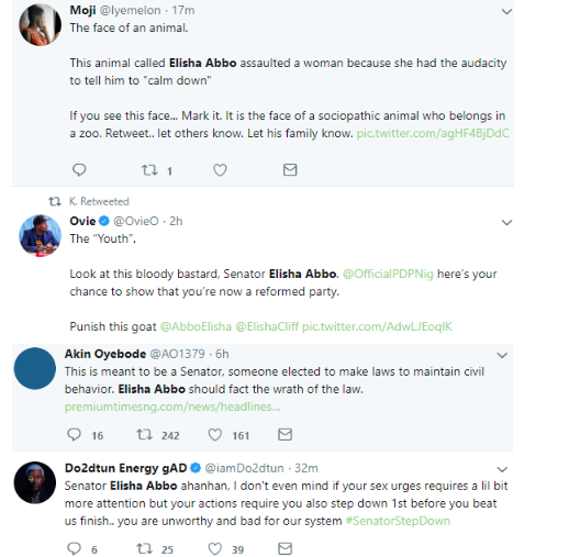 M.I,  Don Jazzy, others react to Senator Abbo assaulting a nursing mother in a sex toy shop