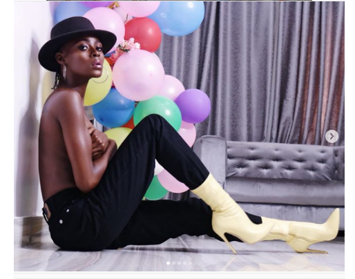2018 BBNaija Hosuemate Khloe Poses Topless In New Photos