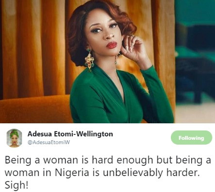 5d1c9dce5026b - 'Being A Woman In Nigeria Is Harder' – Adesua Etomi