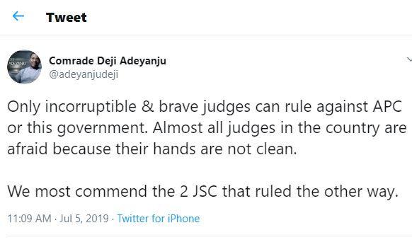 5d1f634a796d6 - Deji Adeyanju Reacts To Adeleke's Supreme Court Loss