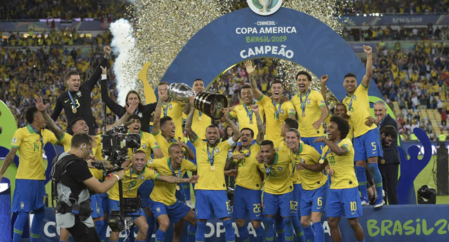 5d22d4f84cab4 - COPA AMERICA 2019: Brazil Crowned Champion After Mauling Of Chile
