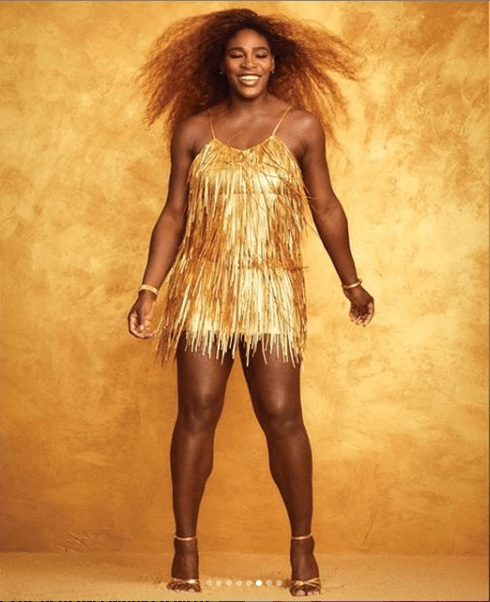 [Photos]: Serena Williams Is Semi Naked On The Cover Of Harper Bazaar