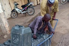 [Photo]: Meet The 11-Year-Old Orphan Who Makes A Living By Selling Water Daily Because He Hates Begging