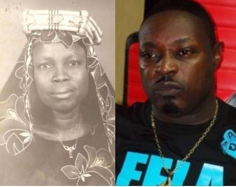 Rapper Eedris Abdulkareem  and late mother