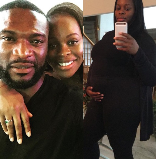 Kenneth Okoli and wife, Jessica