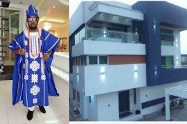 Ayo Makun and his house