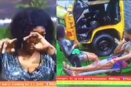 [Video]: BBNaija Tacha Breaks Down In Tears As She Apologises To Mike