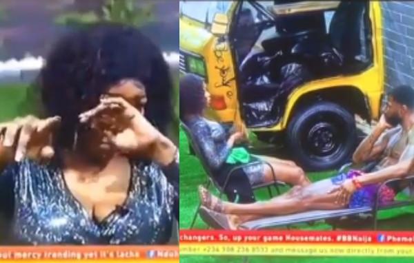 [Video]: BBNaija Tacha Breaks Down In Tears As She Apologises To Mike