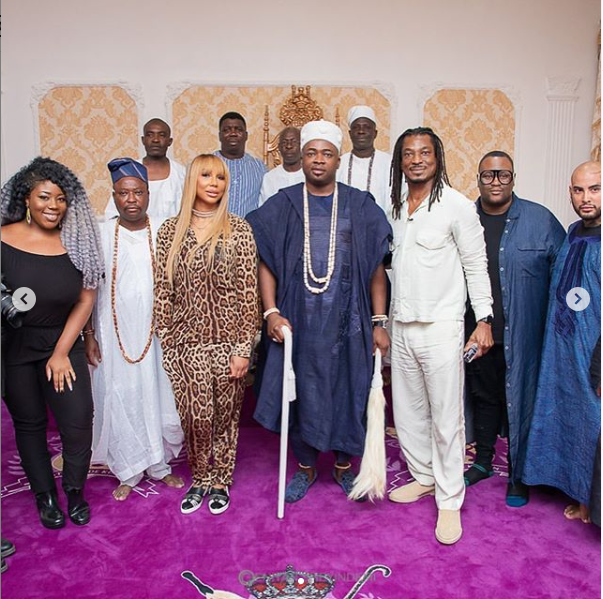 Tamar Braxton, David Adefeso and Oba Elegushi
