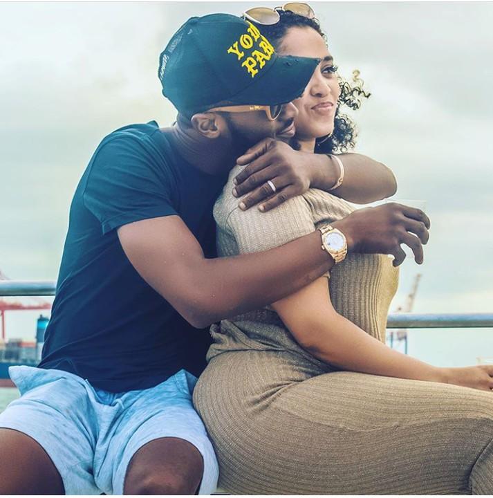 Dbanj and his wife, Lineo