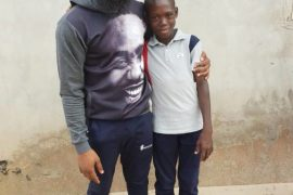 Comedian Arole Meets Young Boy Who Went Viral Singing Tope Alabi's Song