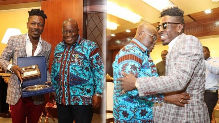 Shatta Wale and President Nana Akuffo Addo