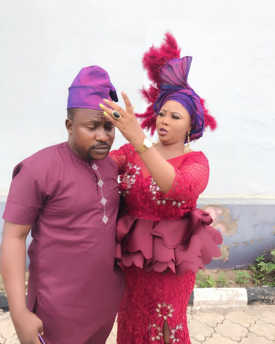 Segun and his second wife