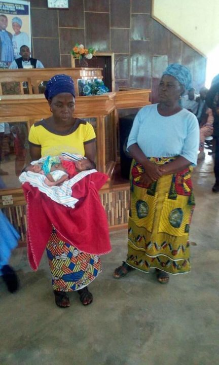 [Photos]: Woman Gives Birth To Conjoined Twins In Benue State