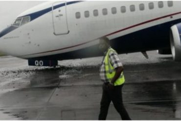 Tragedy Averted As Air Peace Loses Tyre While Landing In Lagos Airport