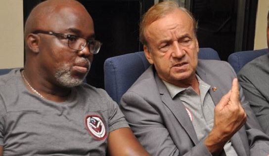 NFF Boss, Pinnick Snubs Super Eagles Coach, Rohr On Stage