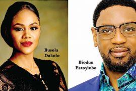 Busola Dakolo and Biodun Fatoyinbo