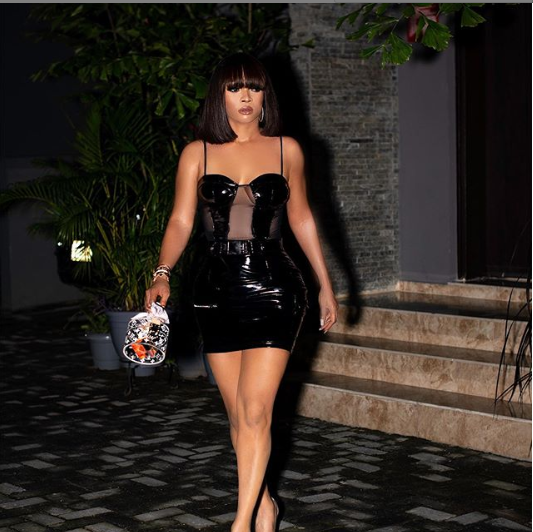 [Photos]: Checkout What Toke Makinwa Wore To Ritya Dominic's Party Last Night