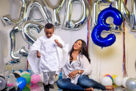 Lilian Esoro and son, Jayden