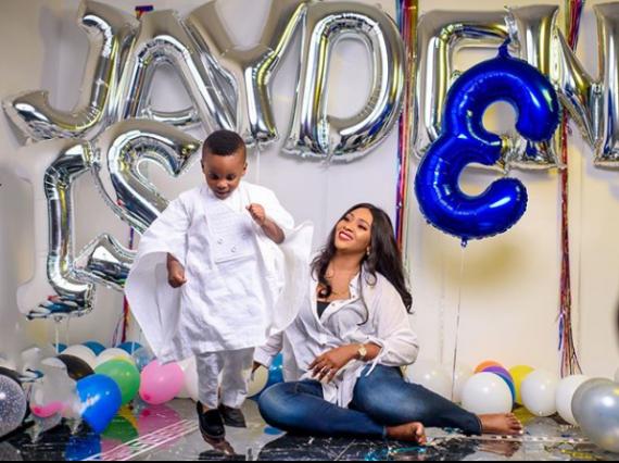 Lilian Esoro and son, Jayden
