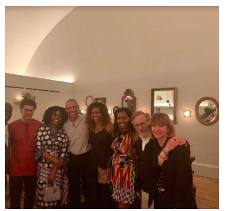 Chimamanda Adichie And Husband Dr Esege Spotted With Former US President Barack Obama & First Lady Michelle Obama