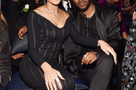 Kendrick Lamar and his fiancé, Whitney Alford