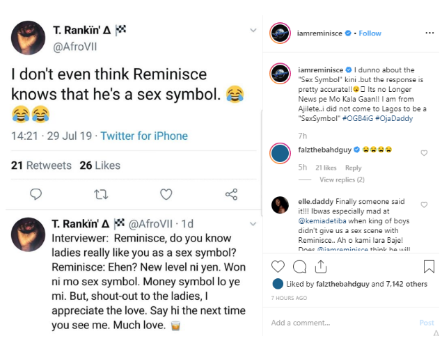 Rapper Reminisce Reacts To Being Seen As A Sex Symbol