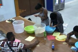 Defiant Housemates picking rice