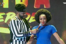 Former BBNaija Housemate, Esther and Host, Ebuka