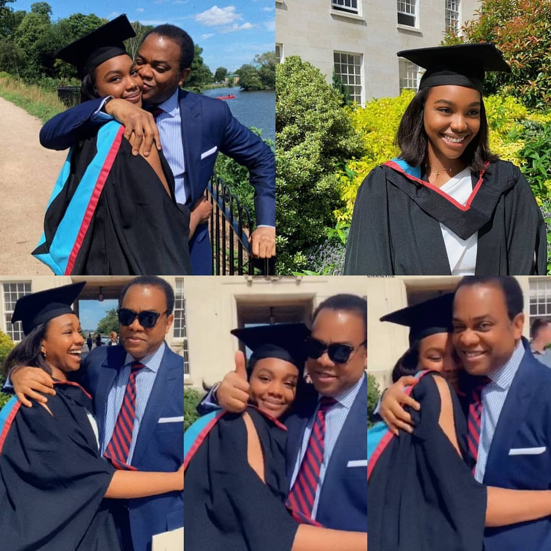 Phot collage of former Governor Donald Duke and daughter , Donna d