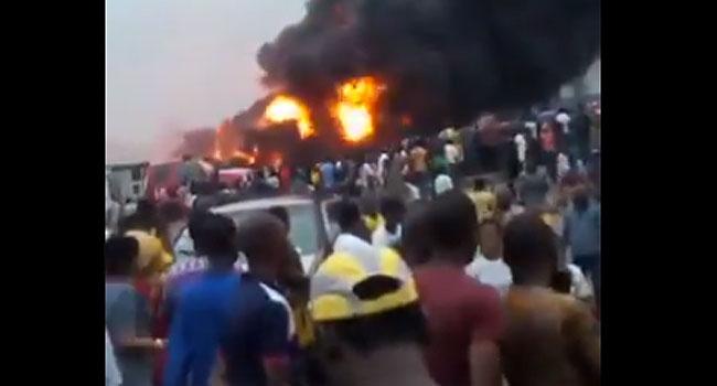 Explosion scene