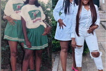 Billionaire Blogger, Linda Ikeji And Friend Recreate 20-year Old Photo