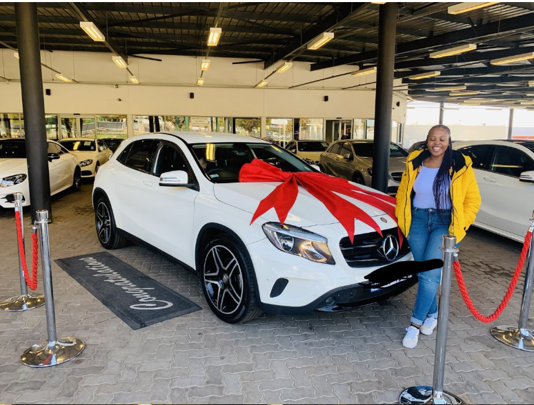 23-year-old lady gets Benz as birthday gift