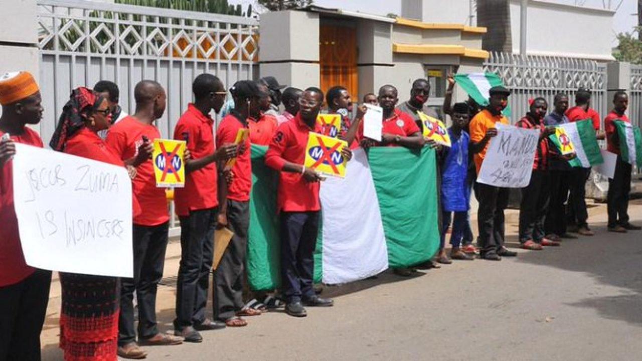 NANS Protests Xenophobia