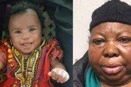 Oluremi Akinleye and the deceased baby, Enita