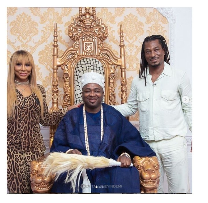 Tamar Braxton, Oba Elegushi and David Adefeso