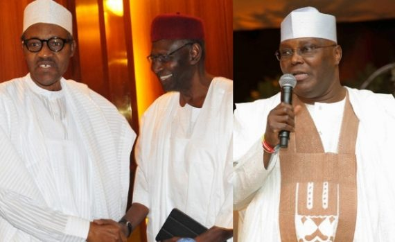 President Buhari, AbbaKyari, and Atiku Abubakar
