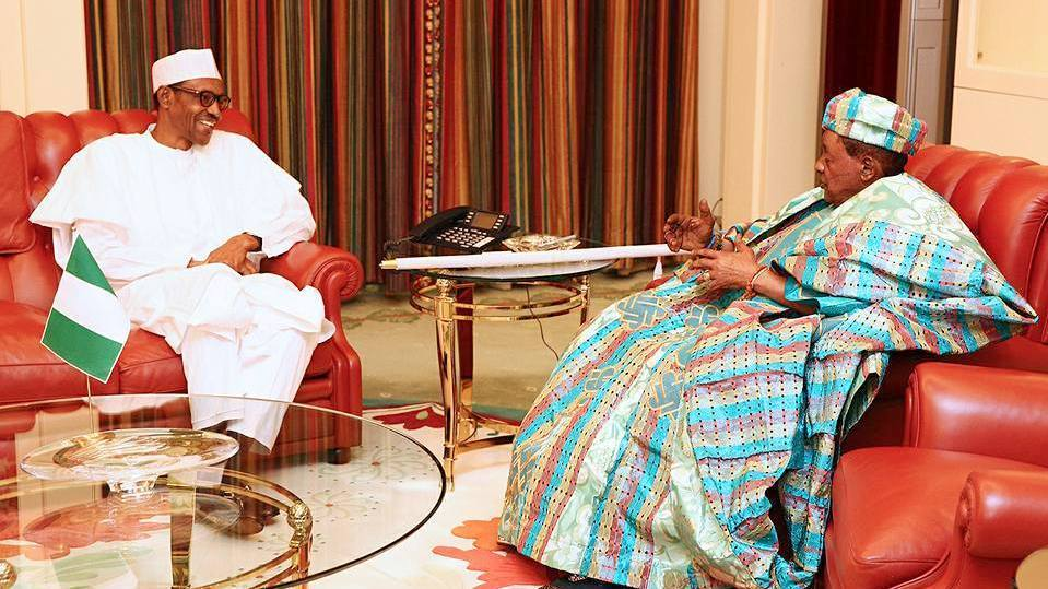 President Buhari and Alaafin of oyo