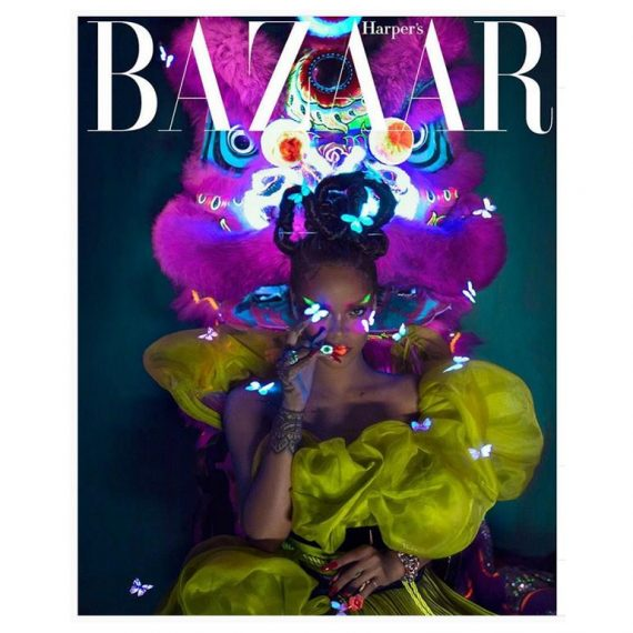 [Photos]: Rihanna Covers August Edition Of Harper Bazaar