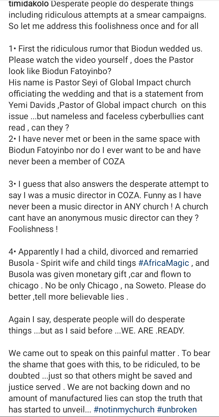 Screenshot 20190704 1704062 - Timi Dakolo Shares Wedding Video, Says Biodun Fatoyinbo Didn't Officiate His Wedding