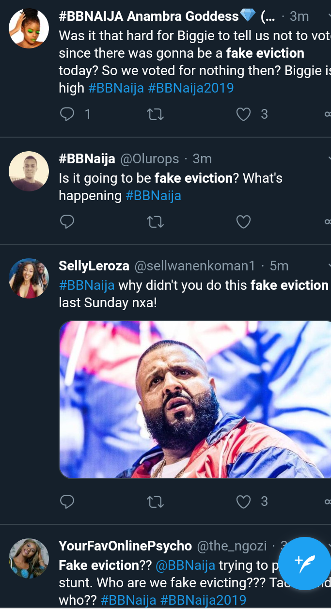 Screenshot 20190721 1922332 - BBNaija2019: Nigerians Slam Big Brother Over Fake Eviction