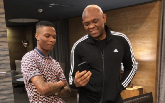 Wizkid and Tony Elumelu