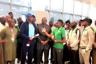 AFCON 2019: Super Eagles Arrive Nigeria